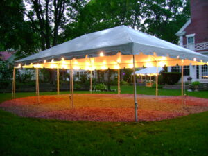 20 x 30 with lights tent rentals