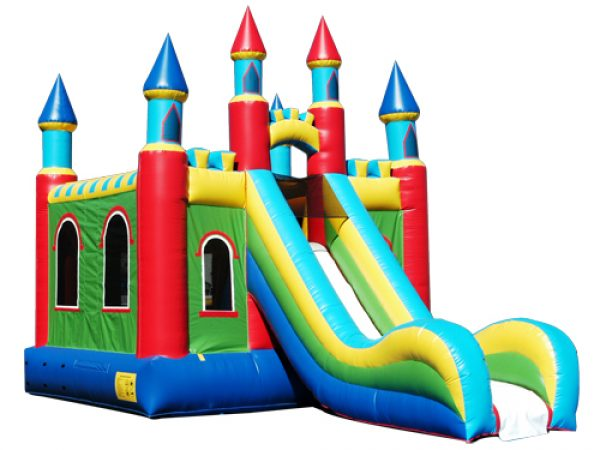 3 in 1 super mega castle slide combo bounce house rentals