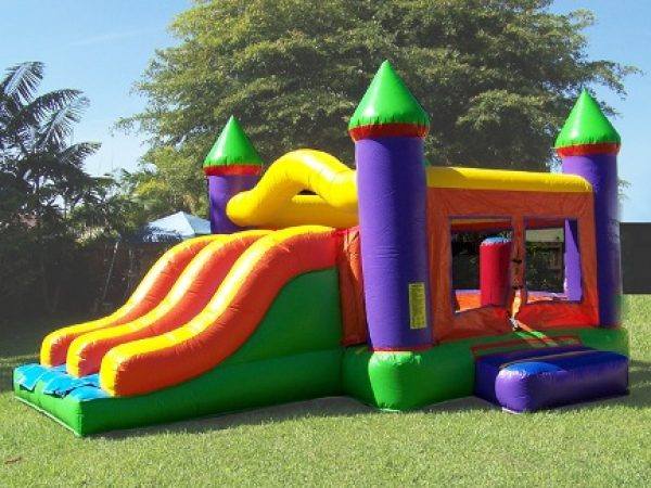 combo 4 in 1 bounce house with slide