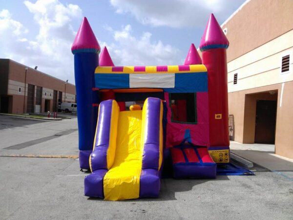 castle combo 4 in 1 with basketball slide combo bounce house rentals
