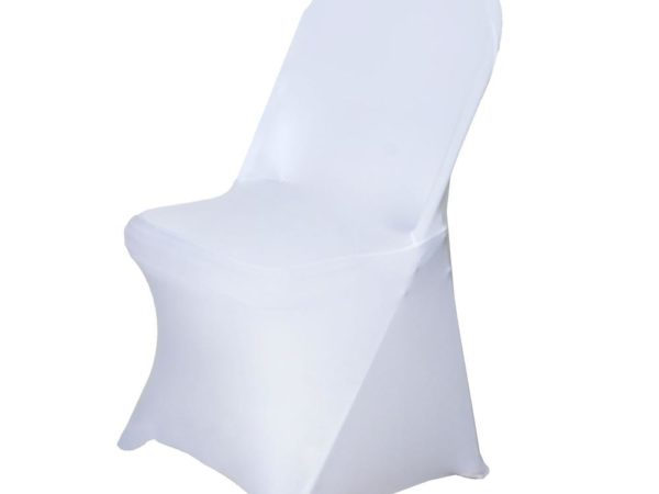 white spandex chair cover linen rentals