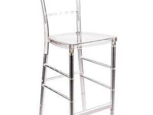 clear chiavari barstool chair rentals in miami