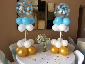 basic custom top balloon center piece table decoration