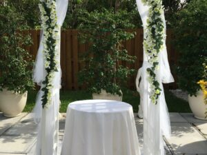 decorated wedding arch rental in miami