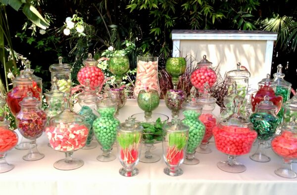 candy station themed party rentals