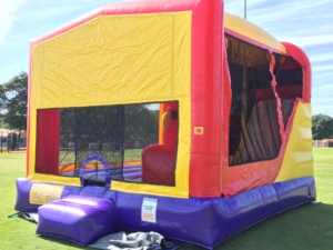 multi color modular combo 4 in 1 with slide combo bounce house rentals