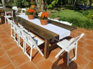 rustic farm table rental miamii