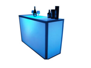 LED Glowing portable bar rentals