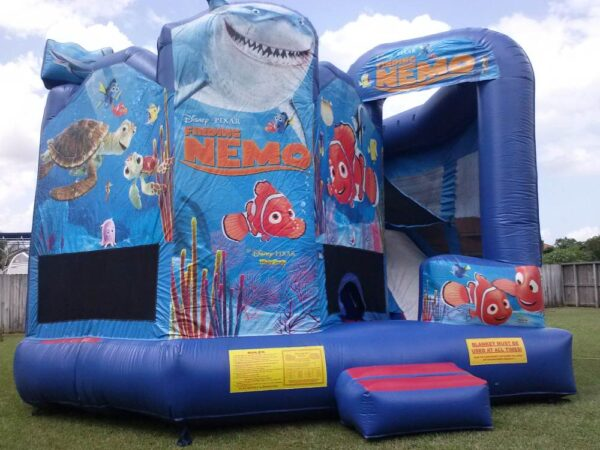 disney pixar finding nemo 5 in 1 slide combo bounce house rentals