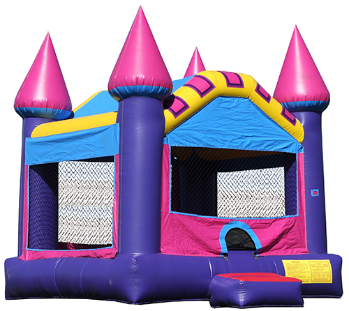 pink castle bounce house rentals