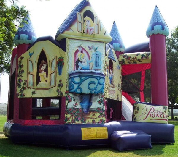 princess palace slide combo bounce house rentals 5 in 1