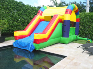 rainbow combo water slide rentals