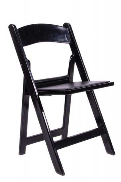 black padded resin folding chair rentals in miami
