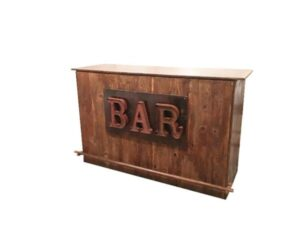 rustic portable bar rentals