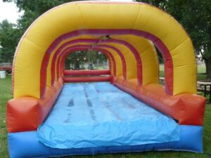 slip n slide water slide rentals with pool