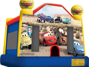 disney cars full face bounce house rentals