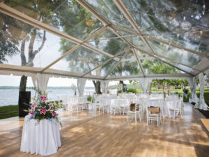clear top 20 x 30 wedding tent rentals