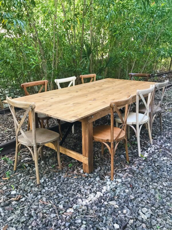 rustic farm table for rent