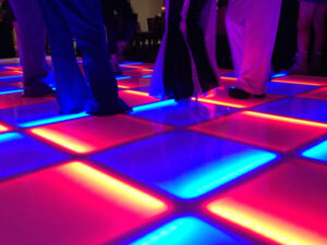 led glowing party portable dance floor rentals wedding