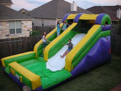 kids lil green water slide rentals with pool