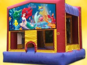 banner little mermaid bounce house rentals
