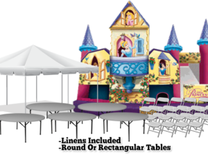 princess castle bounce house package rentals