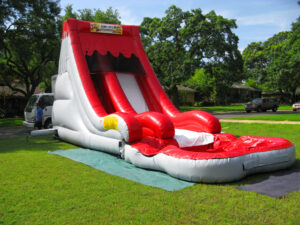 red volcano water slide rentals