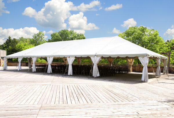 tent with drapes rentals