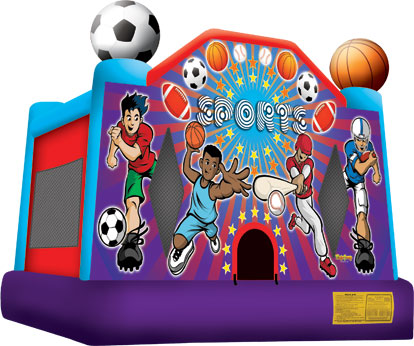 sports full face bounce house rentals