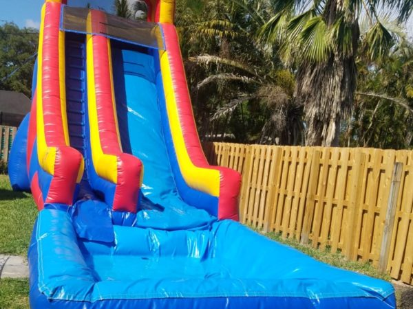 large kids and adult water slide rentals miami with pool