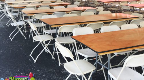corporate event table and chair rentals