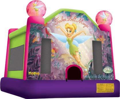 tinkerbell themed bounce house rentals