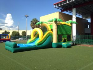 tropical combo water slide rentals