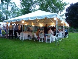 adult party package with tents and chairs