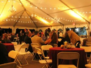 20 x 20 tent rentals in miami with tables and chairs package