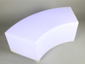 led serpentine bench furniture rental