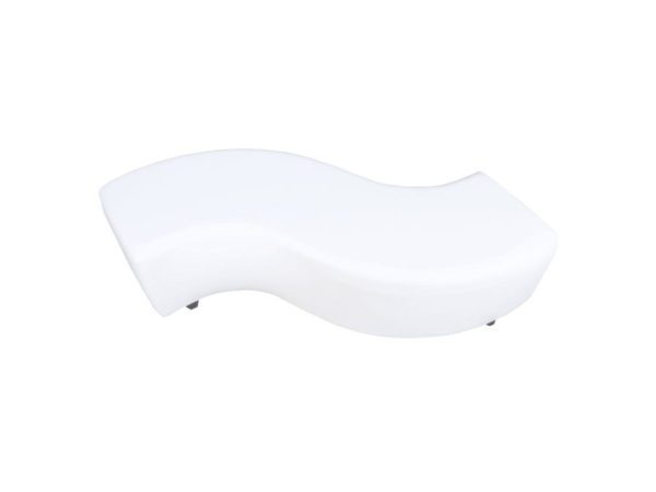 serpentine s bench white leather furniture lounge rental