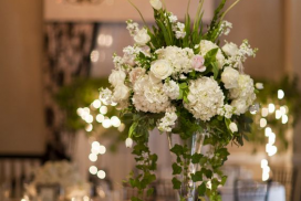 tall wedding table center piece
