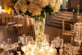 natural flower table with center piece