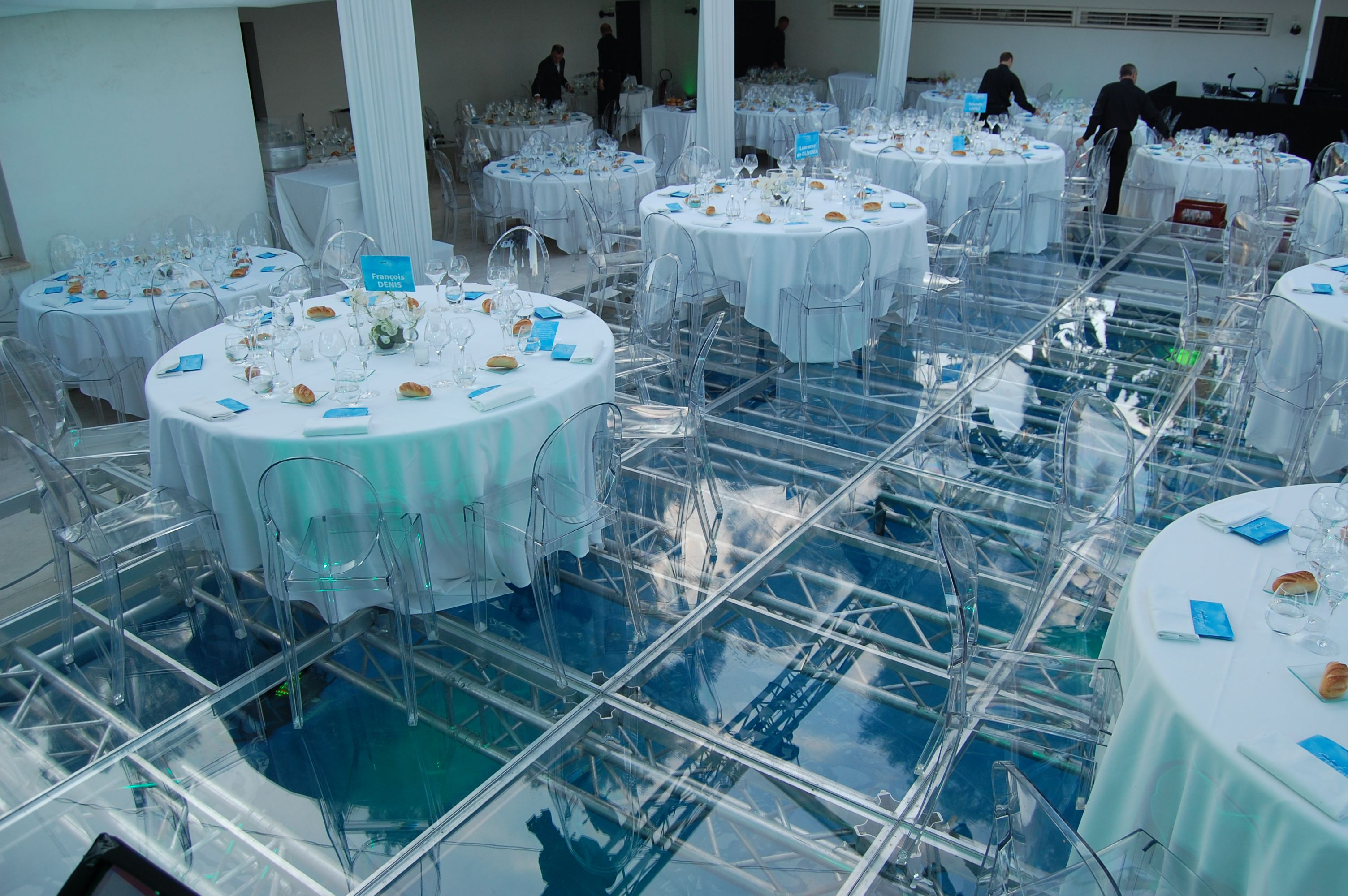 Acrylic Pool Cover Dance Floor Happy Party Event Rentals