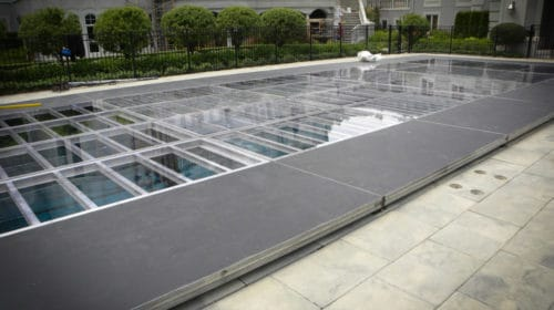 elevated pool cover dance floor rentals in miami